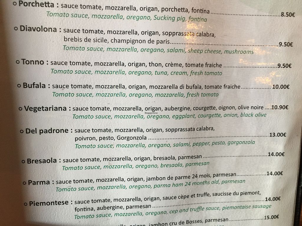"""Photo of Green Soft Bar  by <a href=""""/members/profile/BeckLauer"""">BeckLauer</a> <br/>We ended up taking a """"Vegetariana"""" pizza with special request to leave off cheese after some discussion with waitress who didn't understand vegan vs vegetarian <br/> August 16, 2017  - <a href='/contact/abuse/image/56599/293303'>Report</a>"""