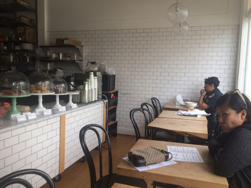 """Photo of Nourish Cafe - Richmond District  by <a href=""""/members/profile/serrarose"""">serrarose</a> <br/>small indoor seating area  <br/> April 19, 2016  - <a href='/contact/abuse/image/56623/145321'>Report</a>"""