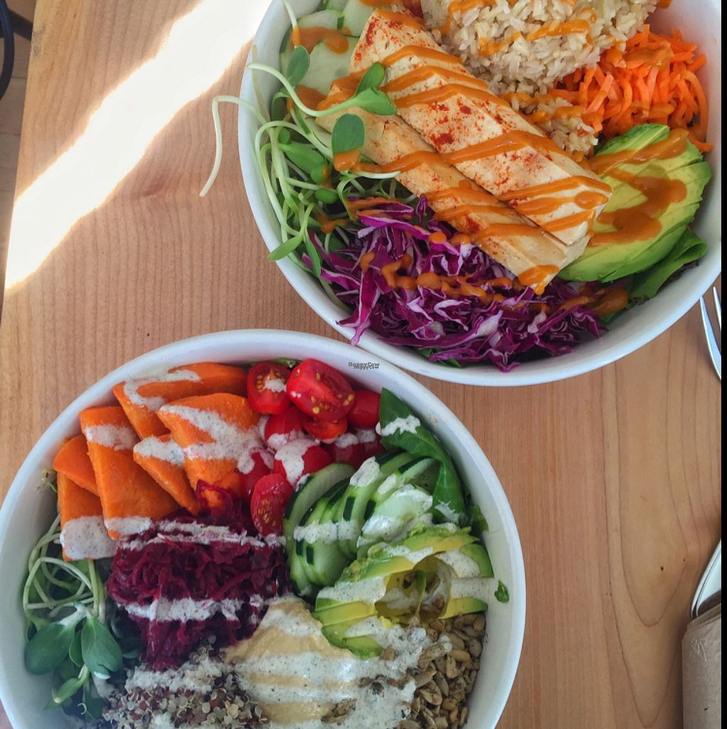 """Photo of Nourish Cafe - Richmond District  by <a href=""""/members/profile/lolacooks"""">lolacooks</a> <br/>nourish and bibimbap rolls <br/> August 12, 2016  - <a href='/contact/abuse/image/56623/168017'>Report</a>"""