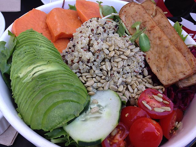 """Photo of Nourish Cafe - Richmond District  by <a href=""""/members/profile/rawplaylove"""">rawplaylove</a> <br/>Nourish with tofu! dressing on the side <br/> June 27, 2017  - <a href='/contact/abuse/image/56623/273844'>Report</a>"""