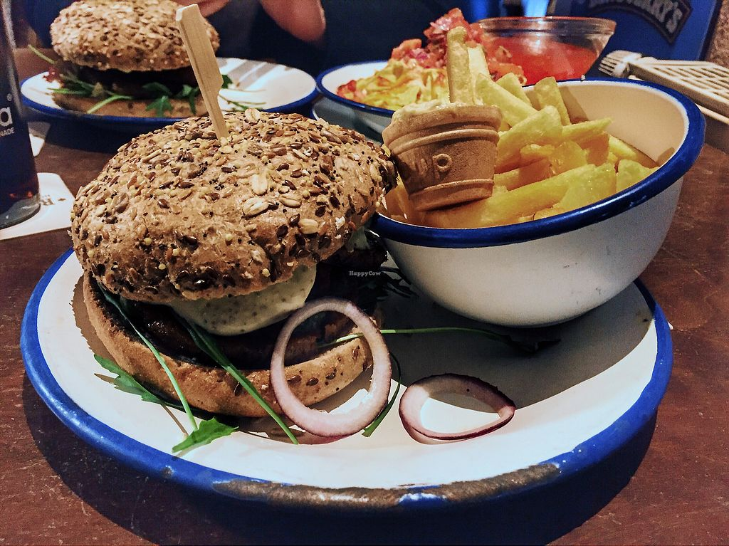 """Photo of Zauber von OS  by <a href=""""/members/profile/LenaSloot"""">LenaSloot</a> <br/>Vegan Love Burger and Fries with vegan Mayo  <br/> February 18, 2018  - <a href='/contact/abuse/image/56626/360940'>Report</a>"""