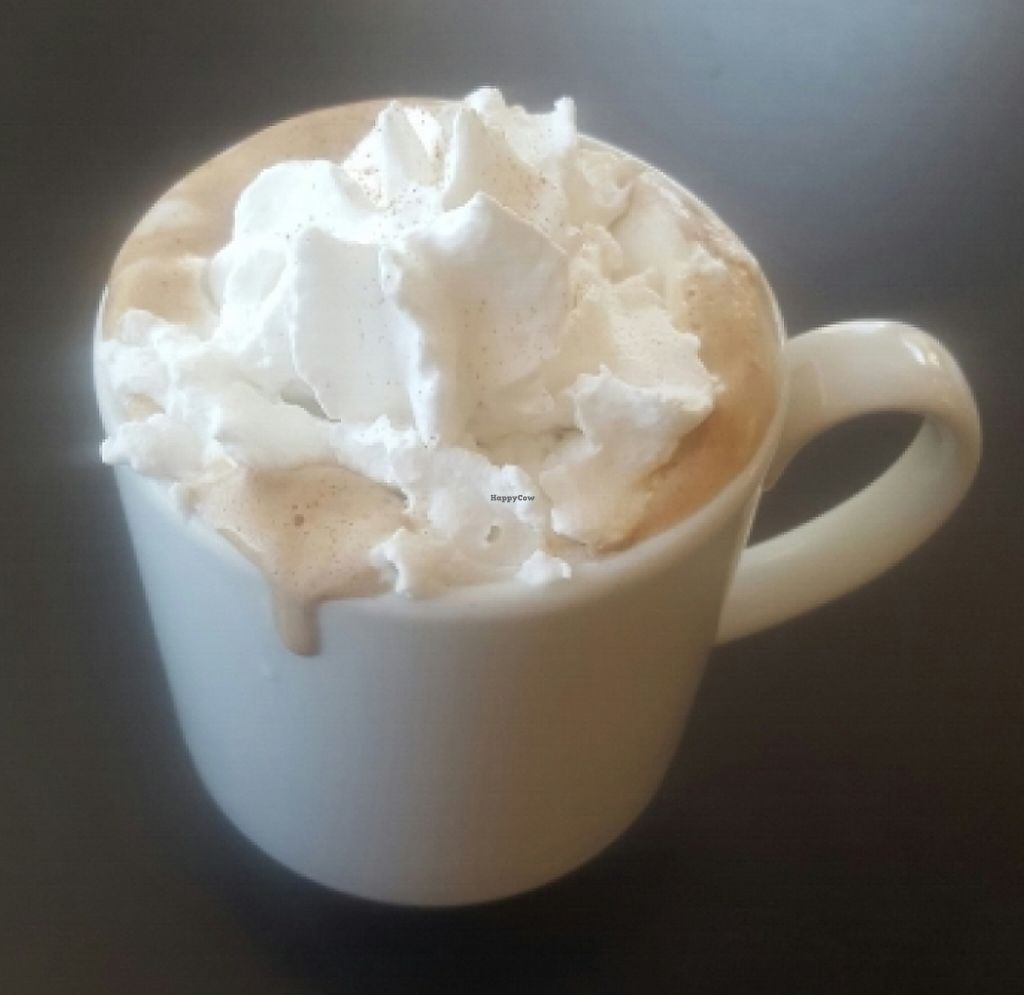 """Photo of Tia B's La Waffleria  by <a href=""""/members/profile/Tashapfeiffer"""">Tashapfeiffer</a> <br/>mocha mexicana made specially vegan with coconut whipped cream! <br/> May 23, 2016  - <a href='/contact/abuse/image/56673/209146'>Report</a>"""