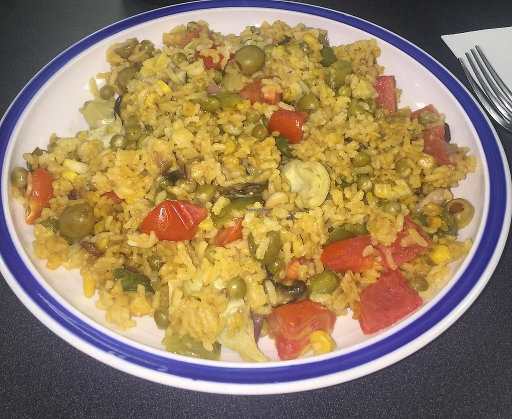 """Photo of Good Karma Vegan Catering  by <a href=""""/members/profile/Jahi"""">Jahi</a> <br/>Vegan Paella!! <br/> April 13, 2015  - <a href='/contact/abuse/image/56683/198673'>Report</a>"""