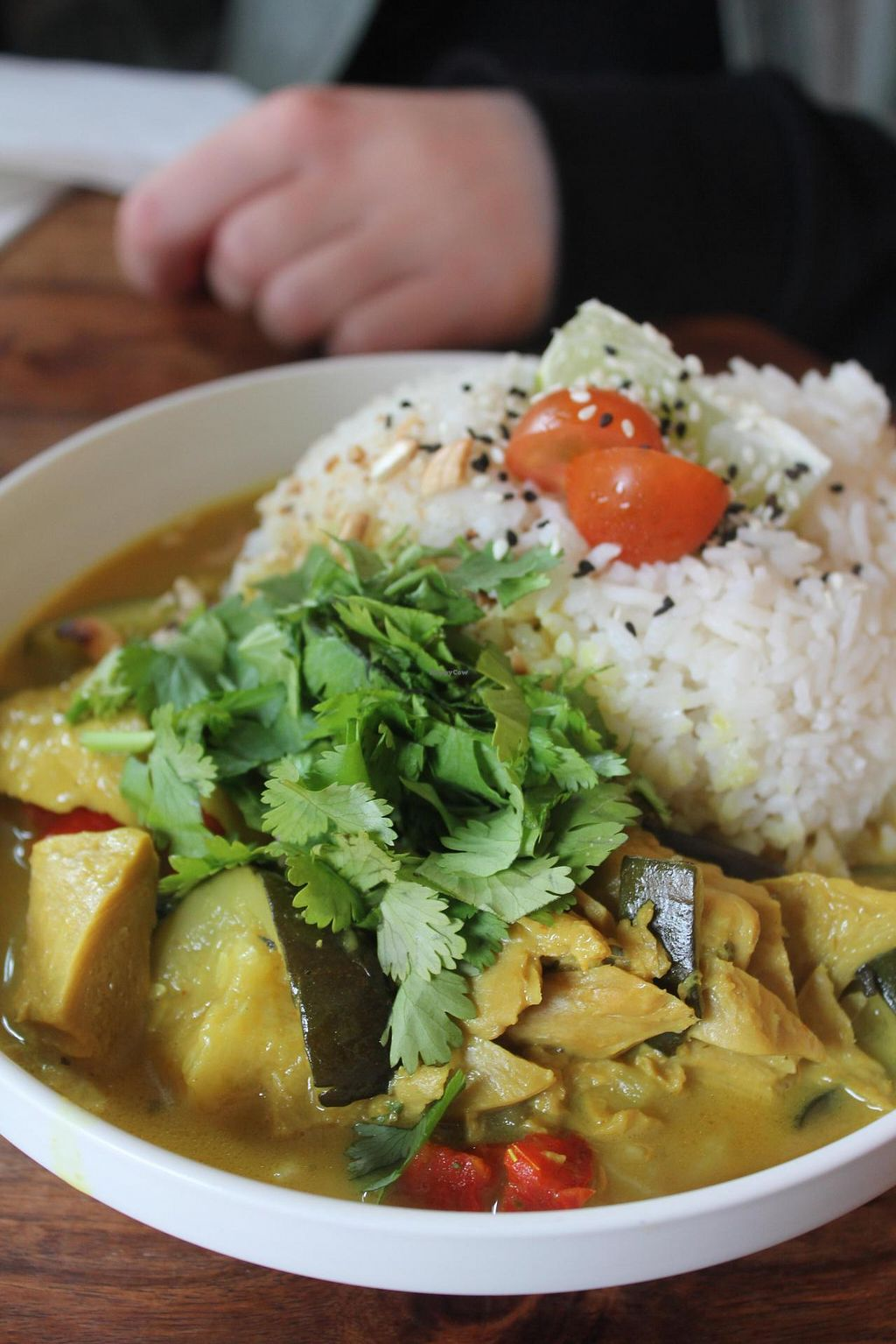 """Photo of Greenway  by <a href=""""/members/profile/Heike.St"""">Heike.St</a> <br/>Thai Curry. (We were not sure, what was inside. Tasted a bit like soy meat but with not spices, but there is also the possibility that it were pieces of artichoke.) Huge portions <br/> June 13, 2015  - <a href='/contact/abuse/image/56685/105781'>Report</a>"""