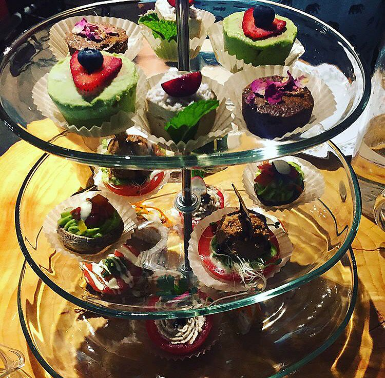 """Photo of Indigo Age Cafe  by <a href=""""/members/profile/theresabee"""">theresabee</a> <br/>Vegan High Tea <br/> September 11, 2017  - <a href='/contact/abuse/image/56700/303410'>Report</a>"""