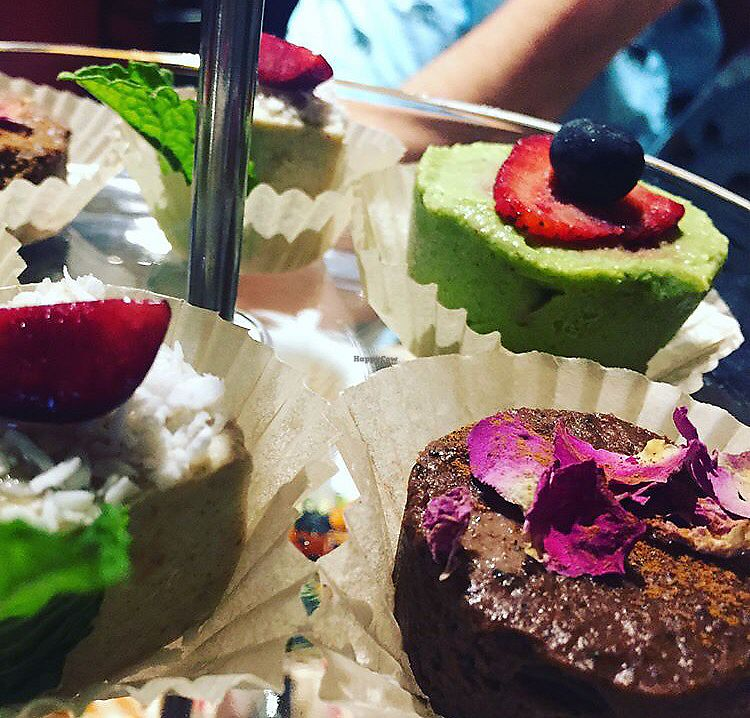 """Photo of Indigo Age Cafe  by <a href=""""/members/profile/theresabee"""">theresabee</a> <br/>Vegan High Tea Close-Up <br/> September 11, 2017  - <a href='/contact/abuse/image/56700/303411'>Report</a>"""