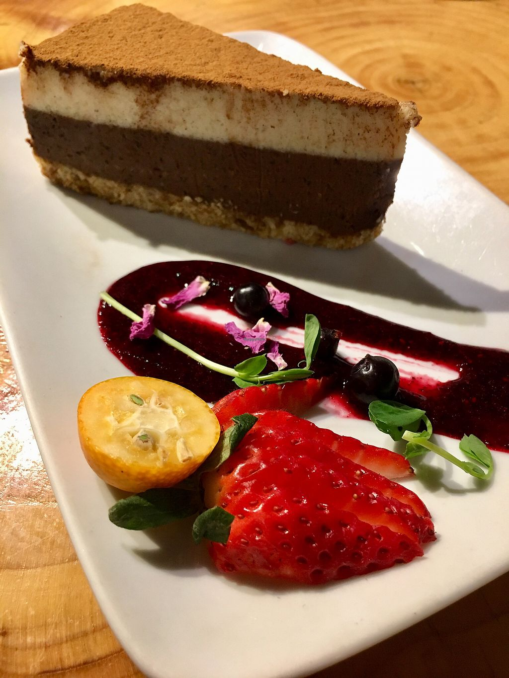 """Photo of Indigo Age Cafe  by <a href=""""/members/profile/clovely.vegan"""">clovely.vegan</a> <br/>Tiramisu <br/> February 23, 2018  - <a href='/contact/abuse/image/56700/362774'>Report</a>"""