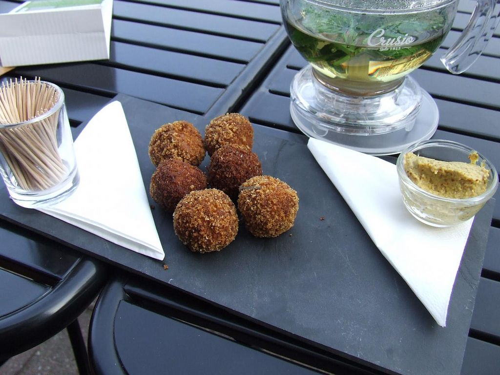"""Photo of Hortus  by <a href=""""/members/profile/v_mdj"""">v_mdj</a> <br/>Vegan appetizer (Dutch 'bitterballen') made of peas <br/> April 25, 2015  - <a href='/contact/abuse/image/56708/100174'>Report</a>"""