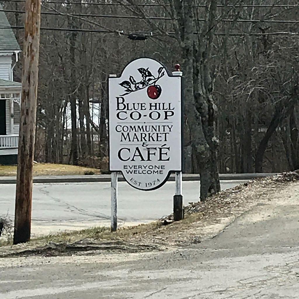"Photo of Blue Hill Co-op and Cafe  by <a href=""/members/profile/Sarah%20P"">Sarah P</a> <br/>Street Sign <br/> April 18, 2018  - <a href='/contact/abuse/image/5670/387851'>Report</a>"