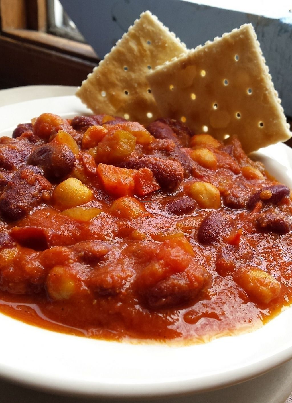 """Photo of Domus Fare  by <a href=""""/members/profile/American%20Vegan"""">American Vegan</a> <br/>Vegan chili !!! <br/> July 16, 2016  - <a href='/contact/abuse/image/56718/209848'>Report</a>"""