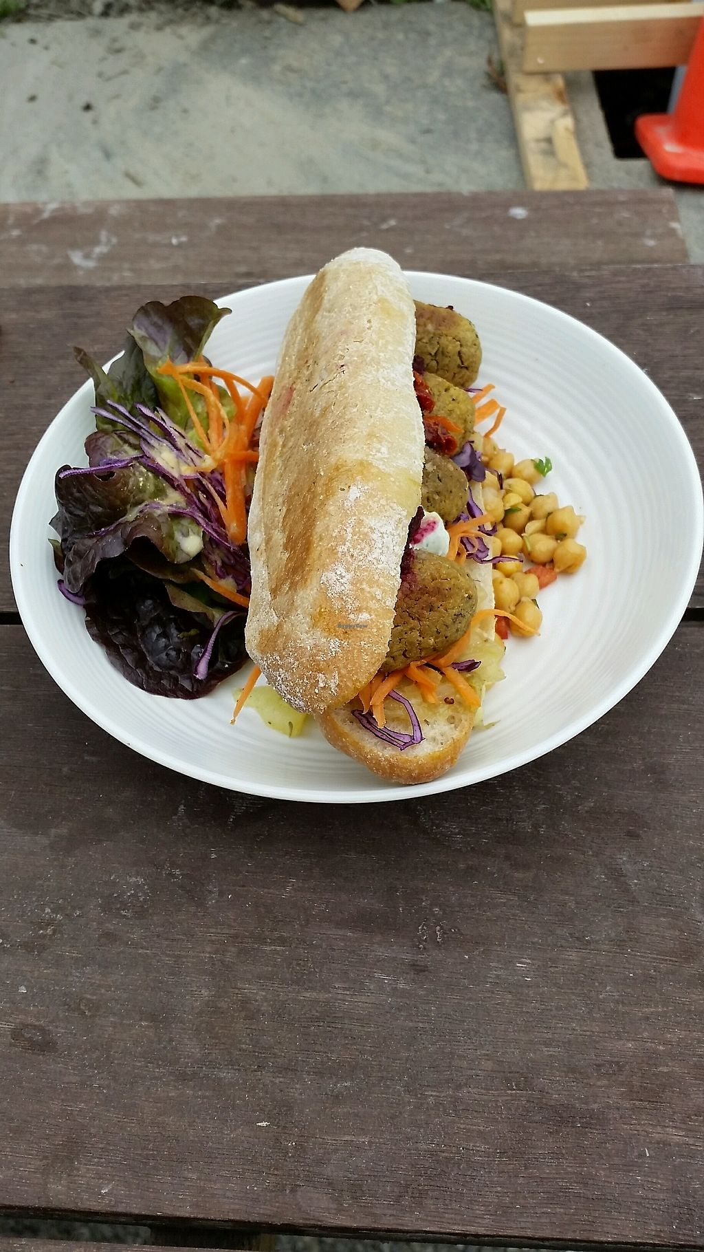 """Photo of Food Forest Organics  by <a href=""""/members/profile/AndyTheVWDude"""">AndyTheVWDude</a> <br/>Falafels, salad & potatoes ~ Tasty! <br/> November 12, 2017  - <a href='/contact/abuse/image/56720/324828'>Report</a>"""