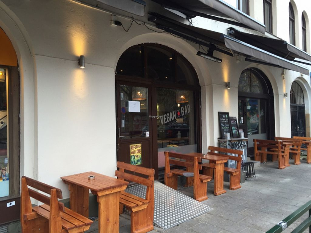 """Photo of The Vegan Bar  by <a href=""""/members/profile/NoemiSpatola"""">NoemiSpatola</a> <br/>The entrance  <br/> November 1, 2015  - <a href='/contact/abuse/image/56739/123423'>Report</a>"""