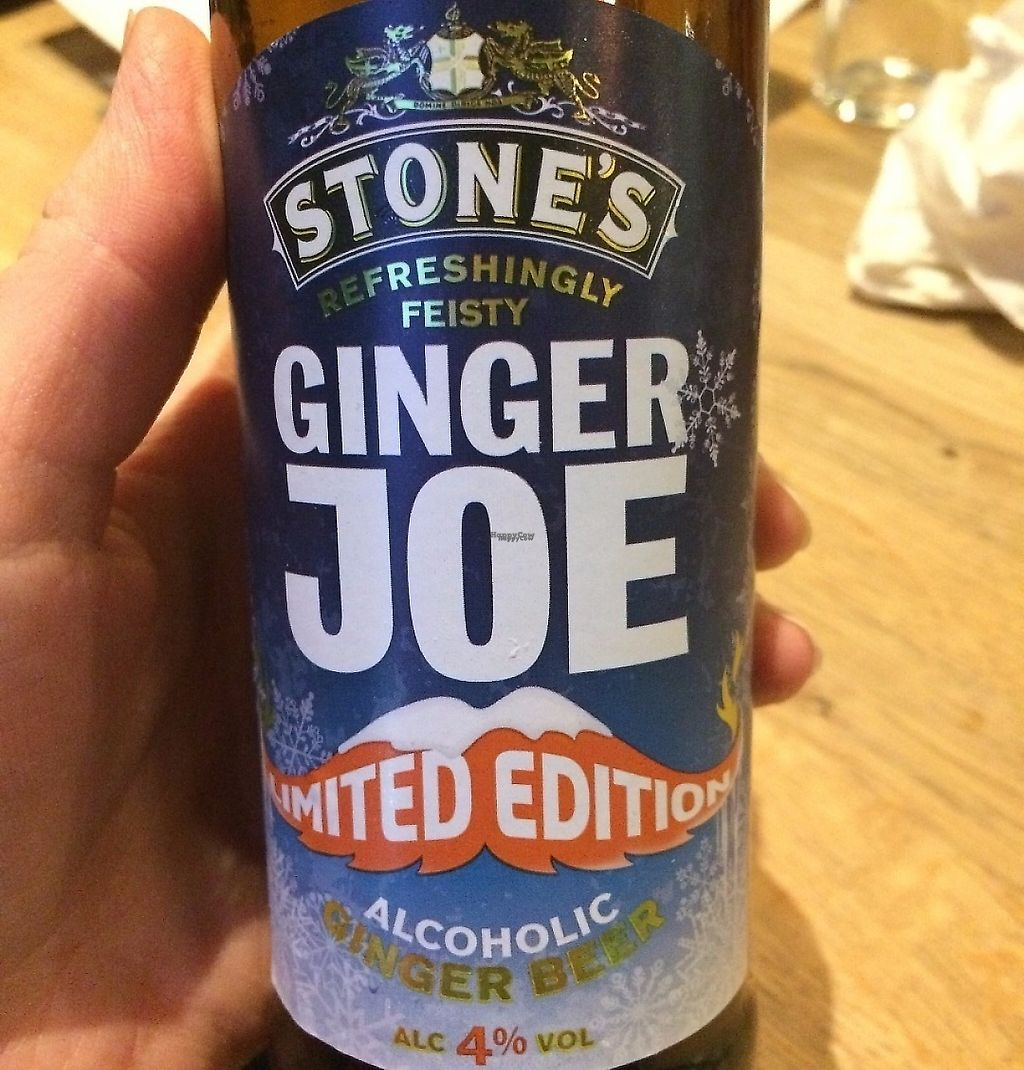 """Photo of The Vegan Bar  by <a href=""""/members/profile/LisaCupcake"""">LisaCupcake</a> <br/>Gluten-free alcoholic ginger beer! Was good. :) <br/> January 5, 2017  - <a href='/contact/abuse/image/56739/244213'>Report</a>"""