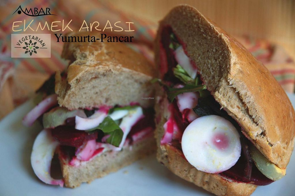 "Photo of Ambar Cafe & Organic Shop  by <a href=""/members/profile/Ambar%20Cafe"">Ambar Cafe</a> <br/>sandwich with red beet and agg <br/> March 22, 2015  - <a href='/contact/abuse/image/56758/96594'>Report</a>"