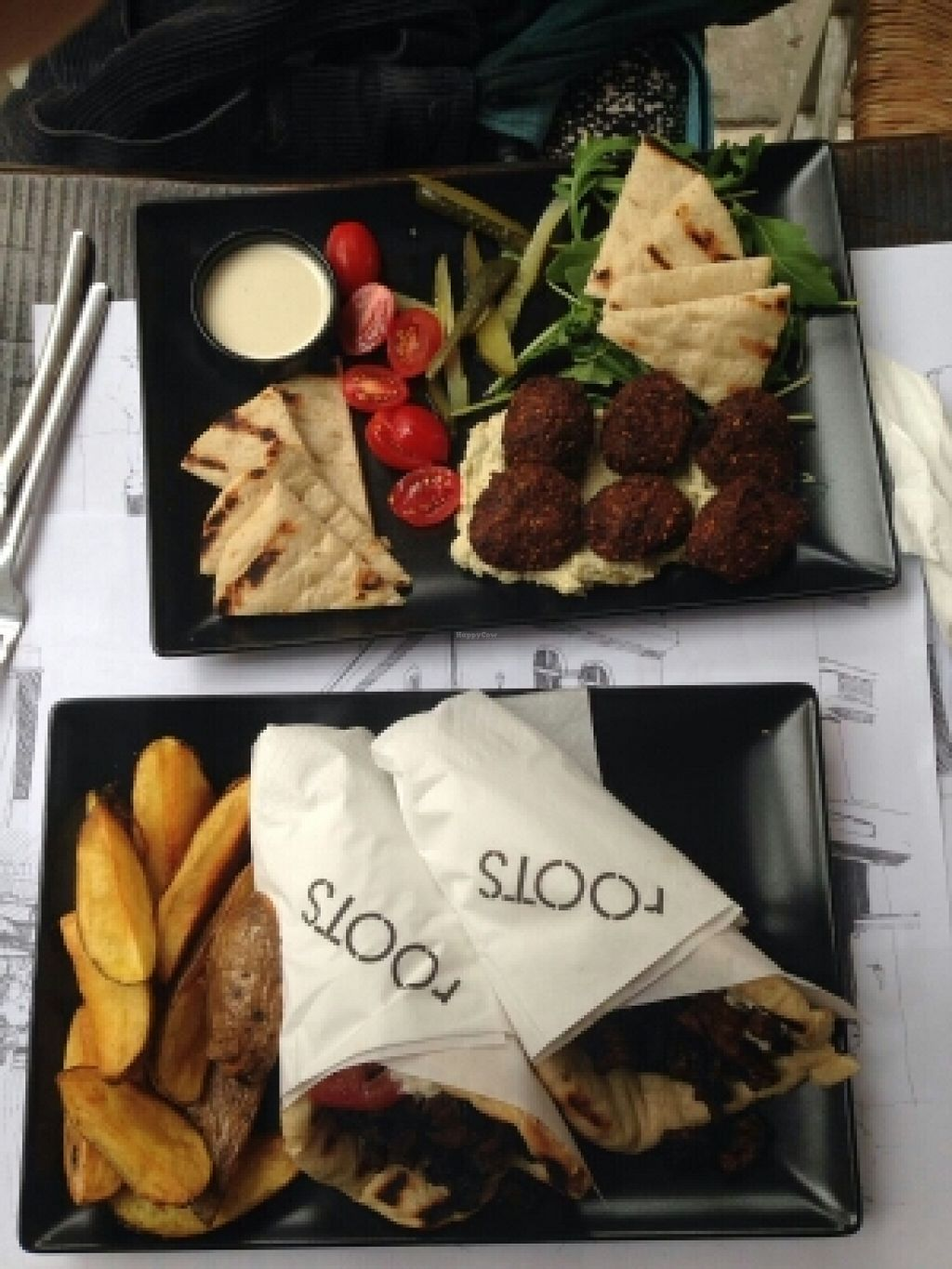 """Photo of rOOTS  by <a href=""""/members/profile/SalomePB"""">SalomePB</a> <br/>Falafel&Gyros <br/> June 19, 2016  - <a href='/contact/abuse/image/56798/154844'>Report</a>"""