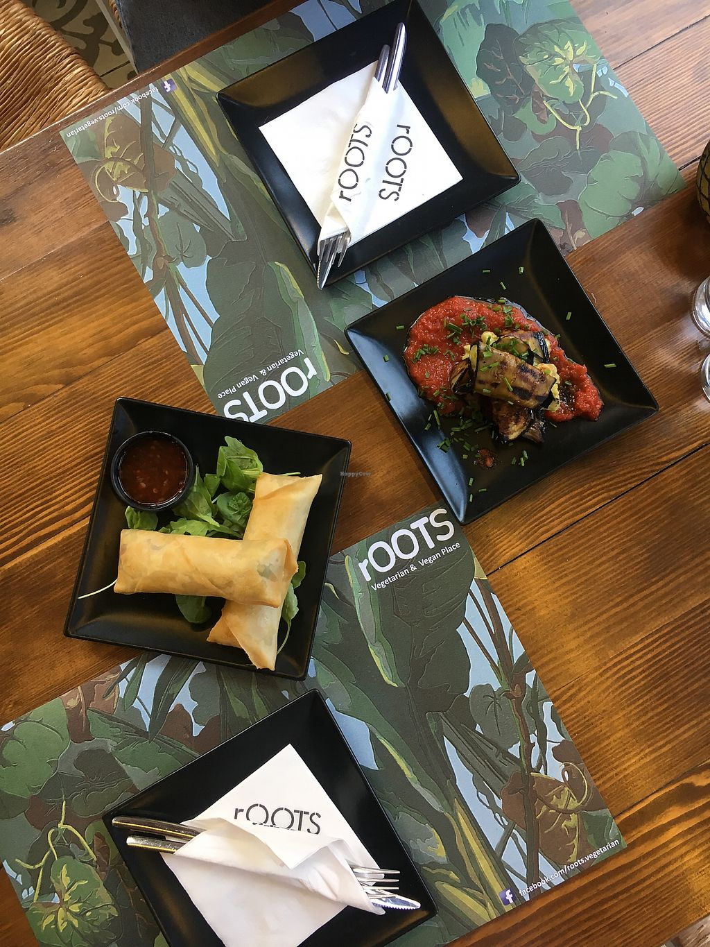 """Photo of rOOTS  by <a href=""""/members/profile/ovidiucodreanu"""">ovidiucodreanu</a> <br/>Spring rolls and stuffed aubergines with guacamole <br/> August 23, 2017  - <a href='/contact/abuse/image/56798/296214'>Report</a>"""