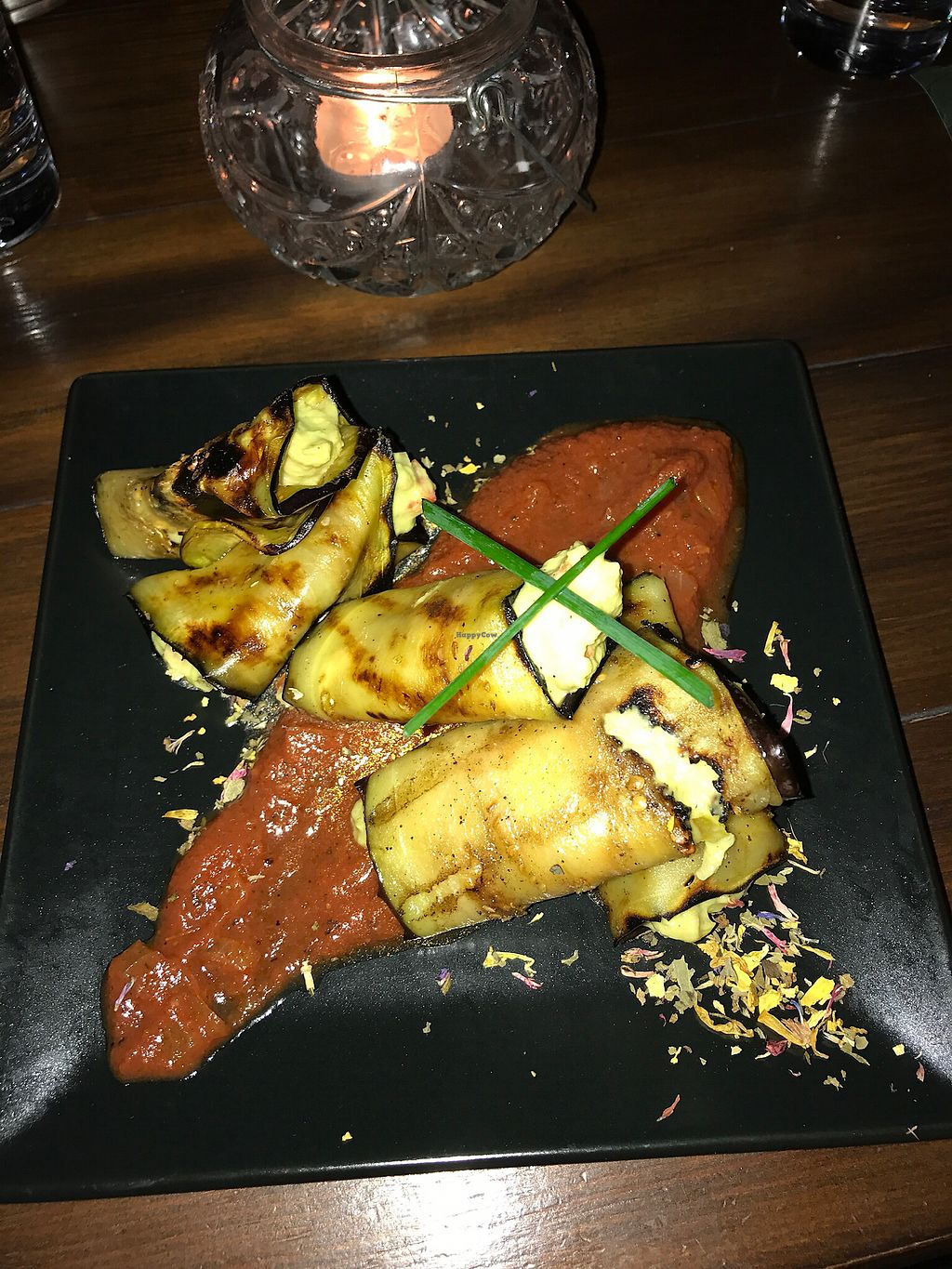 """Photo of rOOTS  by <a href=""""/members/profile/natalielef"""">natalielef</a> <br/>Aubergine stuffed with guacamole <br/> September 29, 2017  - <a href='/contact/abuse/image/56798/309623'>Report</a>"""