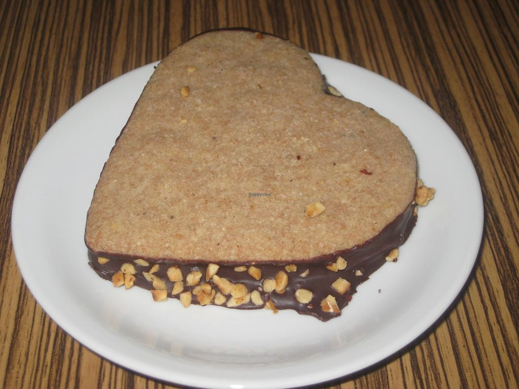"""Photo of Maran Vegan Bistro  by <a href=""""/members/profile/jennyc32"""">jennyc32</a> <br/>Nougat biscuit heart <br/> November 2, 2015  - <a href='/contact/abuse/image/56820/123536'>Report</a>"""
