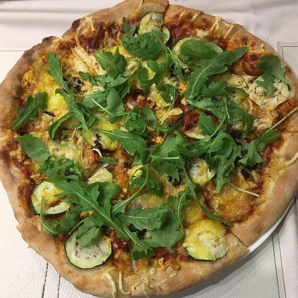 """Photo of CLOSED: Napfenyes Bistro  by <a href=""""/members/profile/MorganCrawford"""">MorganCrawford</a> <br/>mediterranean pizza <br/> July 23, 2017  - <a href='/contact/abuse/image/56837/283962'>Report</a>"""