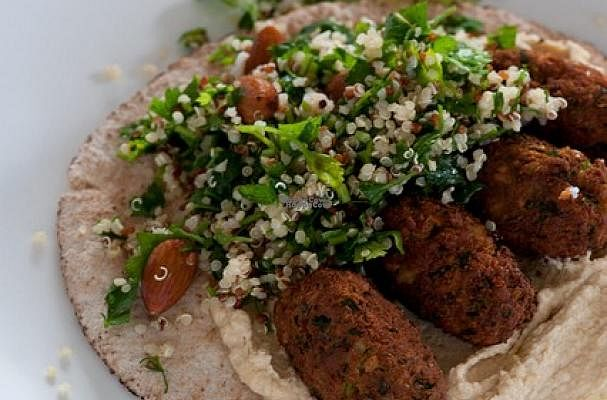 """Photo of Oranaise Cafe  by <a href=""""/members/profile/Meaks"""">Meaks</a> <br/>Falafel Wrap <br/> September 3, 2016  - <a href='/contact/abuse/image/56916/173304'>Report</a>"""