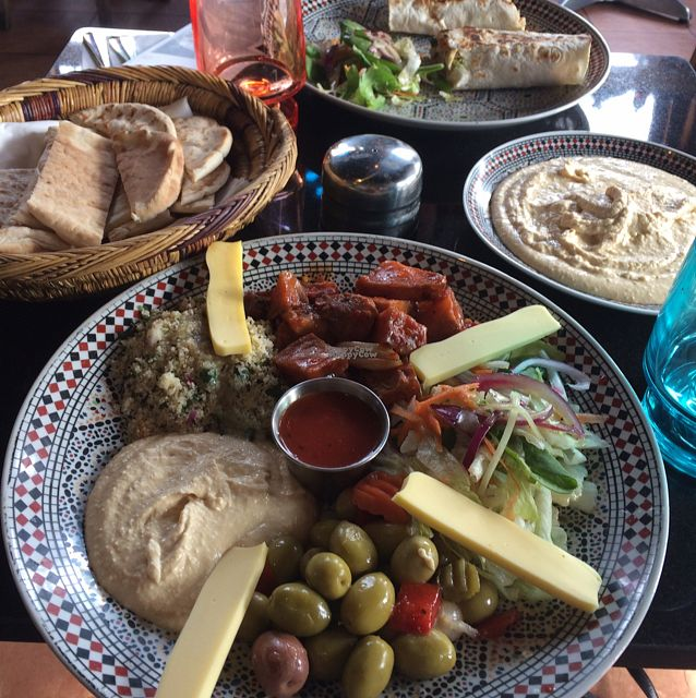 """Photo of Oranaise Cafe  by <a href=""""/members/profile/Abbie"""">Abbie</a> <br/>vegan mezze platter <br/> October 1, 2016  - <a href='/contact/abuse/image/56916/178962'>Report</a>"""