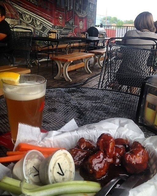 """Photo of Trolley Wing Company  by <a href=""""/members/profile/SushiSauce"""">SushiSauce</a> <br/>Vegan wings with teriyaki + BBQ sauce, extra vegan ranch, and a beer <br/> October 10, 2017  - <a href='/contact/abuse/image/56926/313808'>Report</a>"""