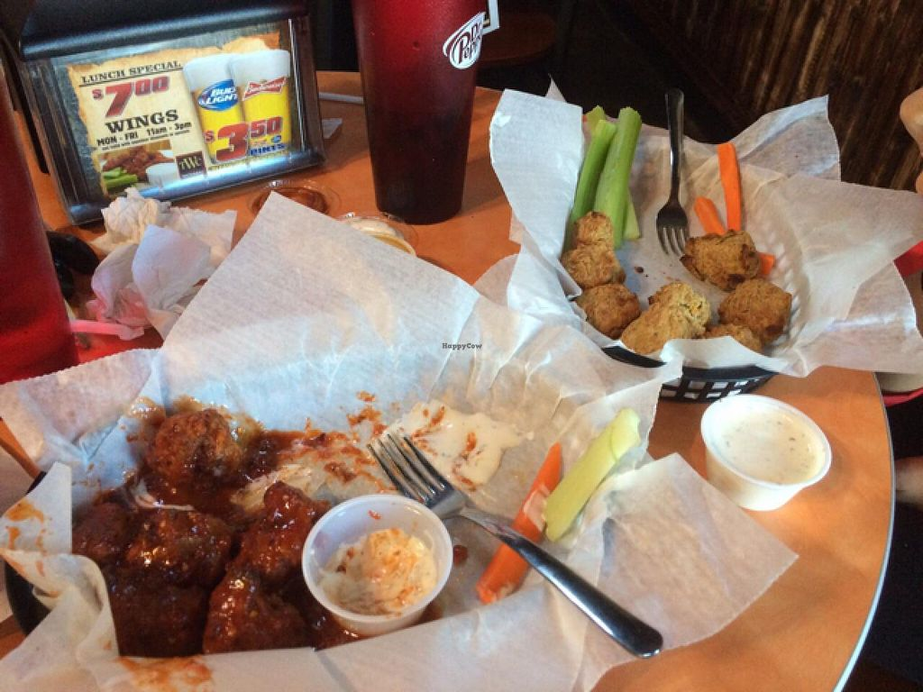 """Photo of Trolley Wing Company  by <a href=""""/members/profile/franvamo"""">franvamo</a> <br/>Real Vegan Wings  <br/> March 29, 2015  - <a href='/contact/abuse/image/56926/97240'>Report</a>"""