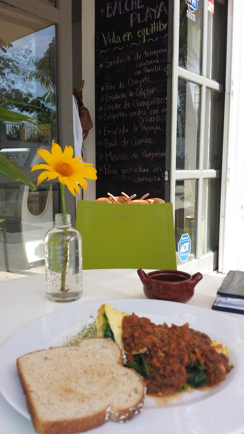 """Photo of CLOSED: Balche Playa  by <a href=""""/members/profile/balcheplaya"""">balcheplaya</a> <br/>Organic vegetables Omelette, great way to start your day <br/> March 29, 2015  - <a href='/contact/abuse/image/56941/97284'>Report</a>"""