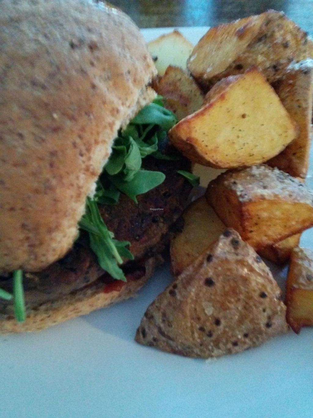"""Photo of CLOSED: Veg Bar  by <a href=""""/members/profile/CLRtraveller"""">CLRtraveller</a> <br/>black-bean burger <br/> June 17, 2015  - <a href='/contact/abuse/image/56985/106227'>Report</a>"""