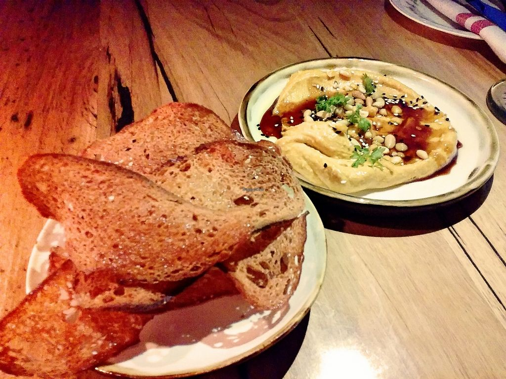 """Photo of Transformer Fitzroy  by <a href=""""/members/profile/verbosity"""">verbosity</a> <br/>Pumpkin dip, pine nuts & crushed chickpeas with sourdough crisps <br/> October 30, 2015  - <a href='/contact/abuse/image/56986/123250'>Report</a>"""
