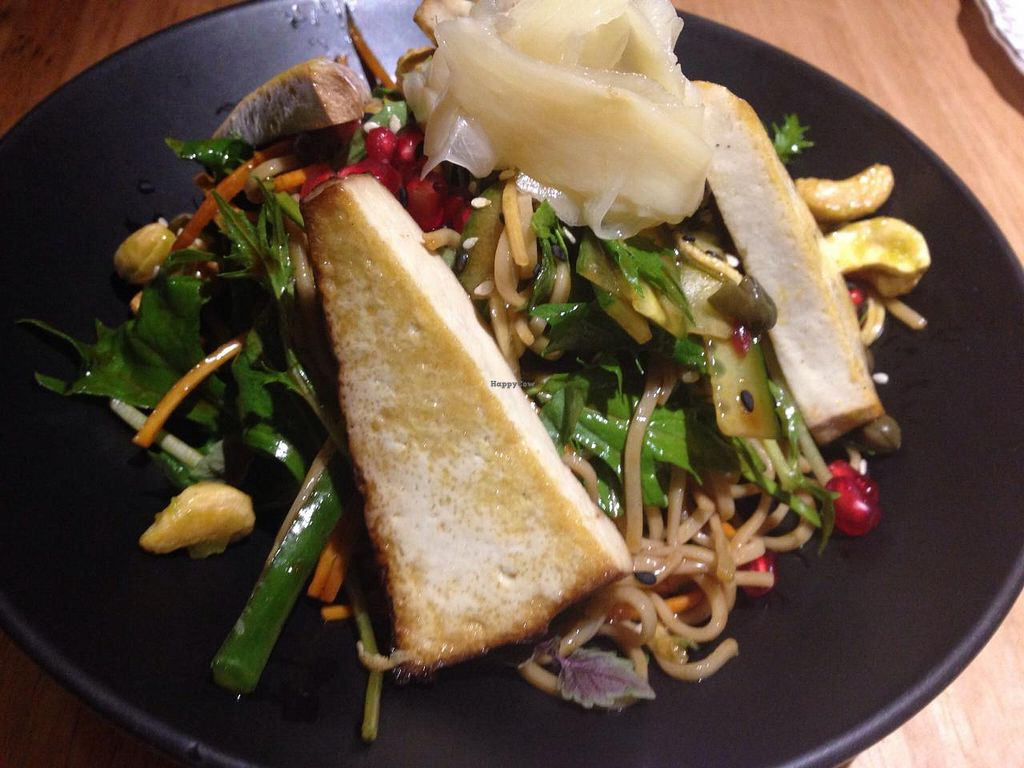 """Photo of Transformer Fitzroy  by <a href=""""/members/profile/Tiggy"""">Tiggy</a> <br/>Organic soba noodles and smoked tofu, pickled ginger, pomegranate, capers, mizuma and wasabi cashews - April 2015 <br/> April 15, 2015  - <a href='/contact/abuse/image/56986/99120'>Report</a>"""