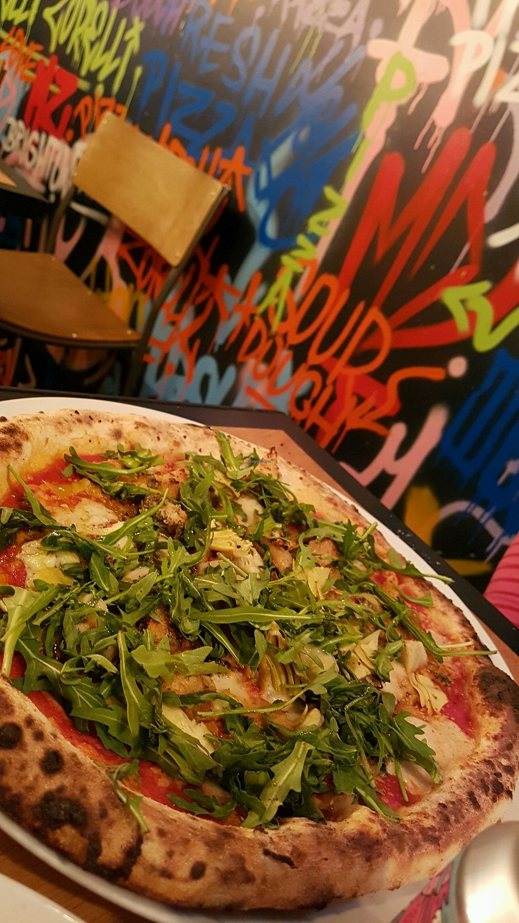 """Photo of Morelli Zorelli  by <a href=""""/members/profile/Stan1891"""">Stan1891</a> <br/>pizza with vegan chicken, vegan pesto and rocket salad <br/> March 16, 2018  - <a href='/contact/abuse/image/56987/371533'>Report</a>"""