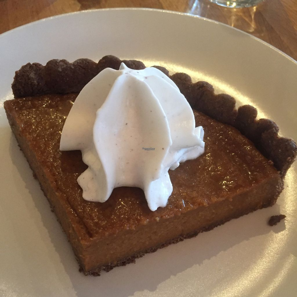 "Photo of True Food Kitchen  by <a href=""/members/profile/happycowgirl"">happycowgirl</a> <br/>vegan squash pie w coconut whip cream <br/> February 10, 2017  - <a href='/contact/abuse/image/56993/225047'>Report</a>"