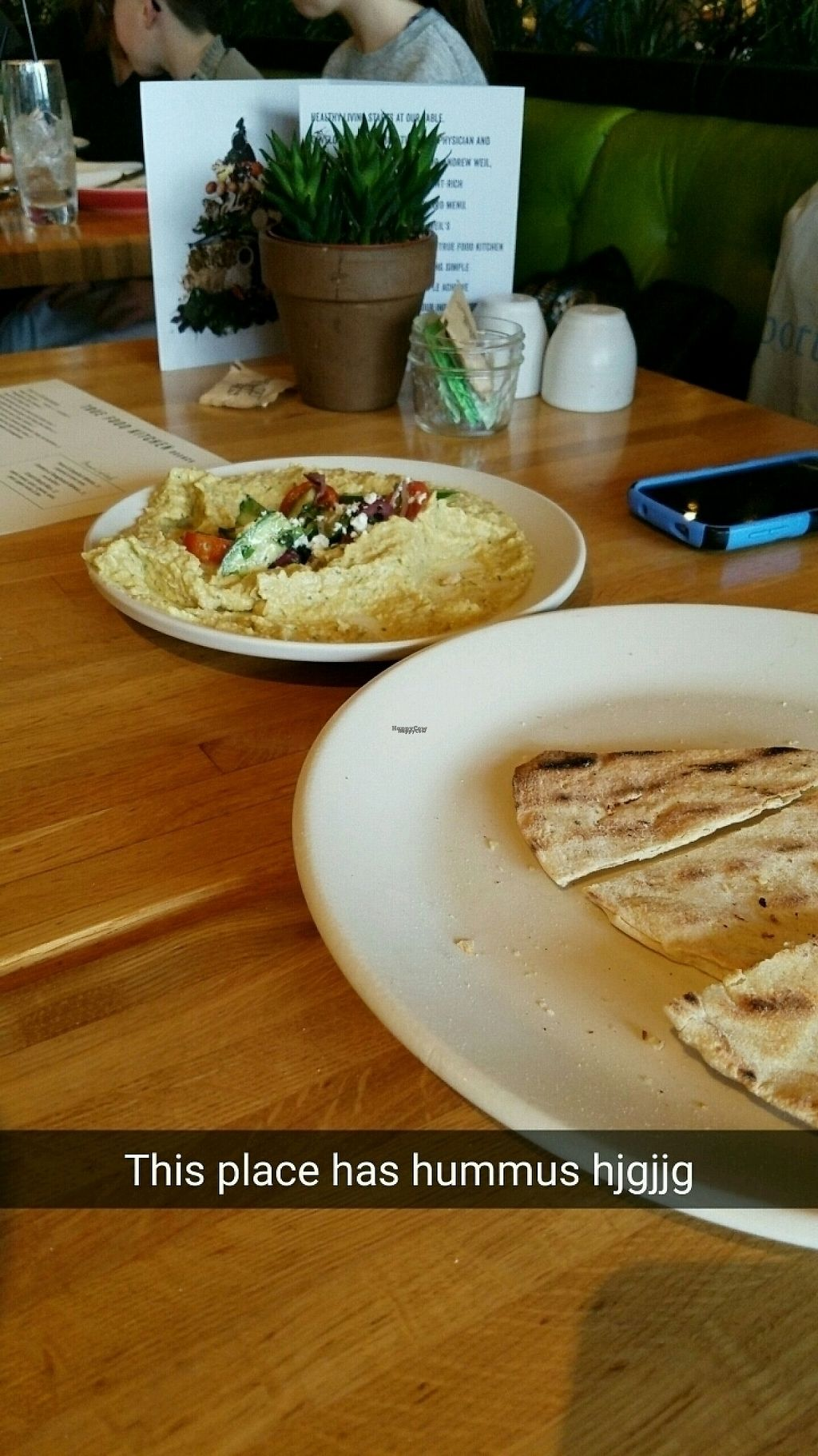 "Photo of True Food Kitchen  by <a href=""/members/profile/rachelgirl8"">rachelgirl8</a> <br/>hummus & pita <br/> March 12, 2017  - <a href='/contact/abuse/image/56993/235545'>Report</a>"