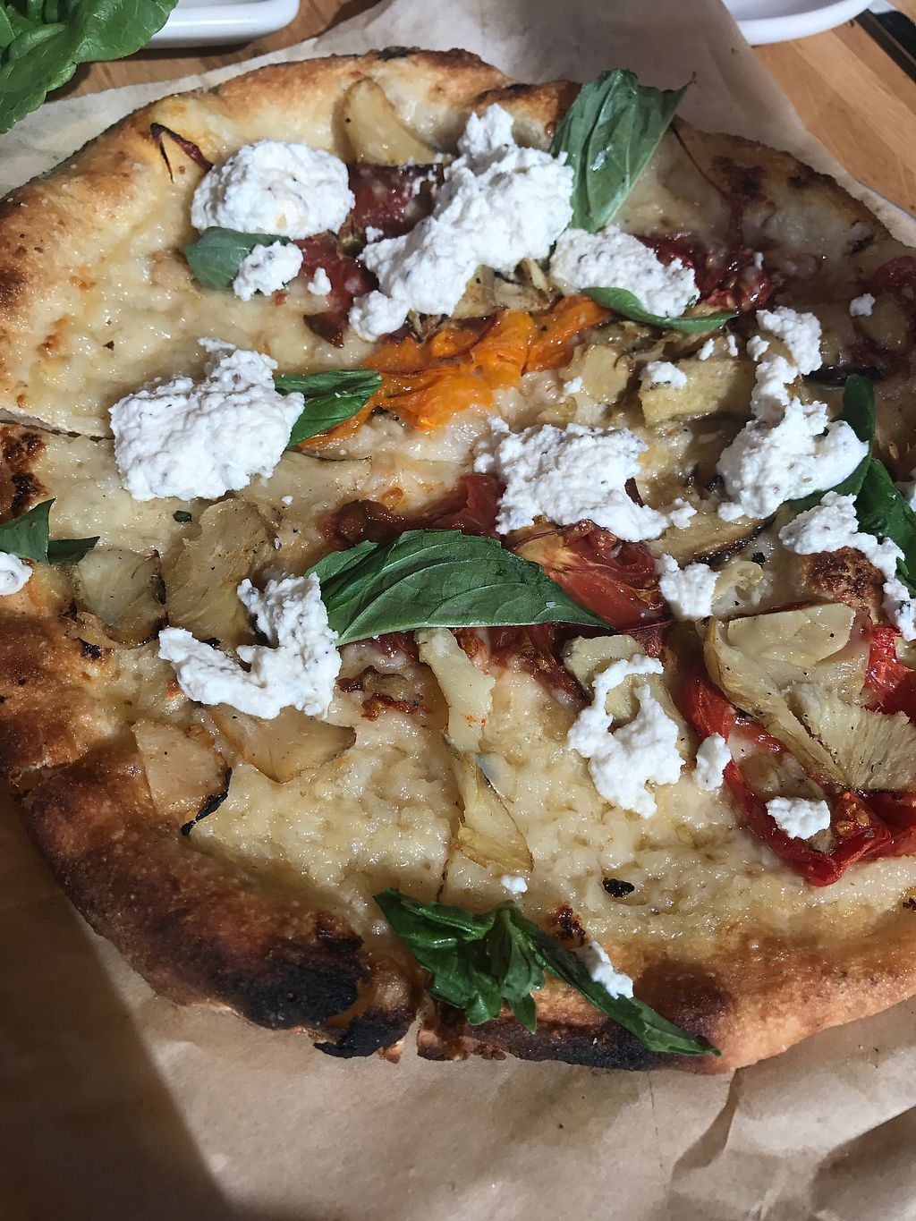 "Photo of True Food Kitchen  by <a href=""/members/profile/KerryElise"">KerryElise</a> <br/>Heirloom tomato pizza with housemade almond ricotta <br/> September 27, 2017  - <a href='/contact/abuse/image/56993/309054'>Report</a>"
