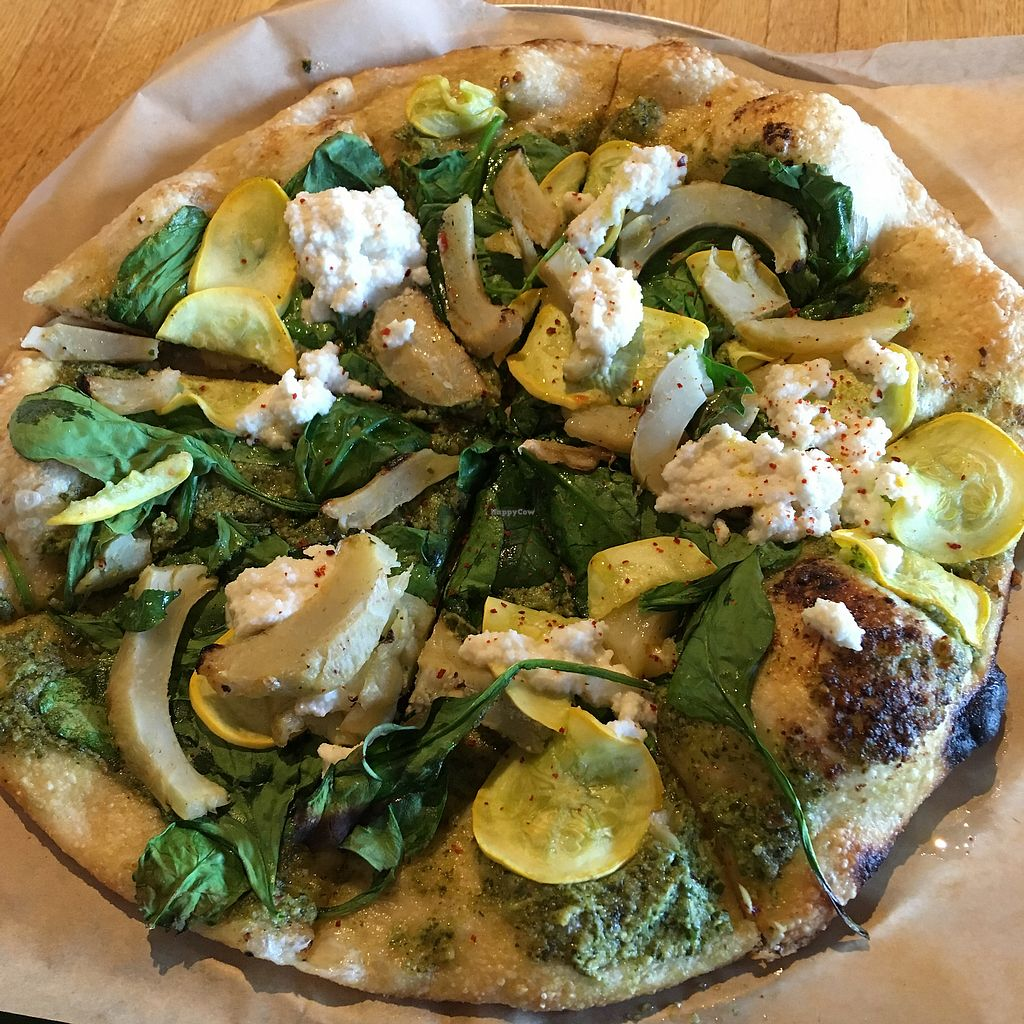 "Photo of True Food Kitchen  by <a href=""/members/profile/KatieBush"">KatieBush</a> <br/>Artichoke and pesto pizza <br/> April 13, 2018  - <a href='/contact/abuse/image/56993/385272'>Report</a>"