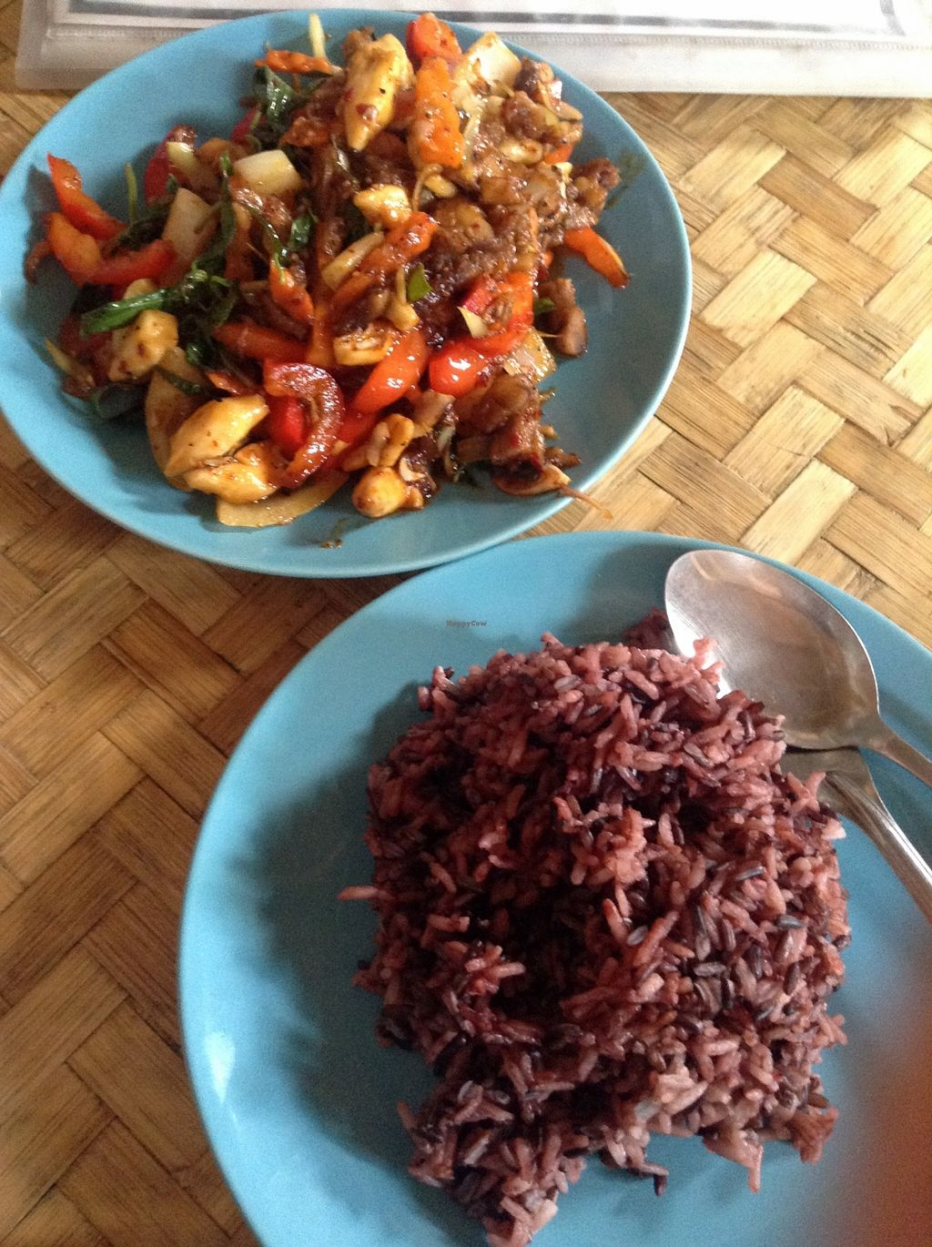 "Photo of CLOSED: Bamboo Bee Vegetarian  by <a href=""/members/profile/YozzyOti"">YozzyOti</a> <br/>brown rice and fried vegetables <br/> September 24, 2015  - <a href='/contact/abuse/image/56995/118963'>Report</a>"