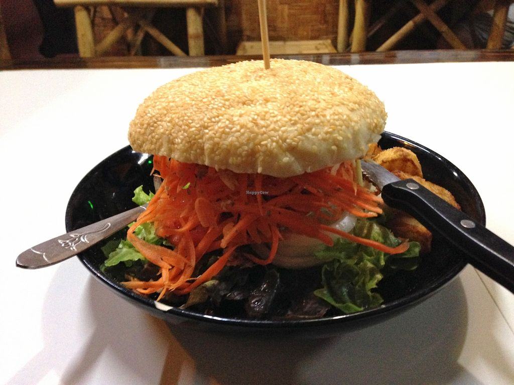 "Photo of CLOSED: Bamboo Bee Vegetarian  by <a href=""/members/profile/Pamina"">Pamina</a> <br/>Veggie Burger @ Bamboo Bee Cafe, Chiang Mai <br/> December 27, 2015  - <a href='/contact/abuse/image/56995/129928'>Report</a>"