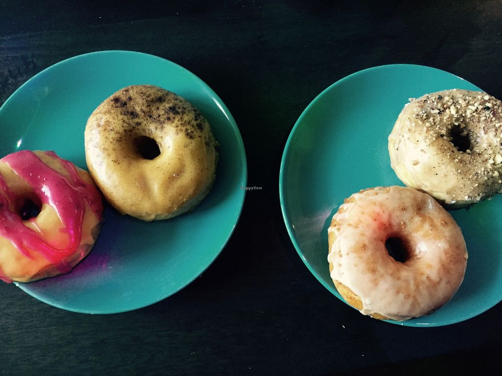 """Photo of CLOSED: Rocket 88 Doughnuts  by <a href=""""/members/profile/jschuh"""">jschuh</a> <br/>vegan doughnuts from Rocket88 <br/> December 19, 2015  - <a href='/contact/abuse/image/57004/129070'>Report</a>"""