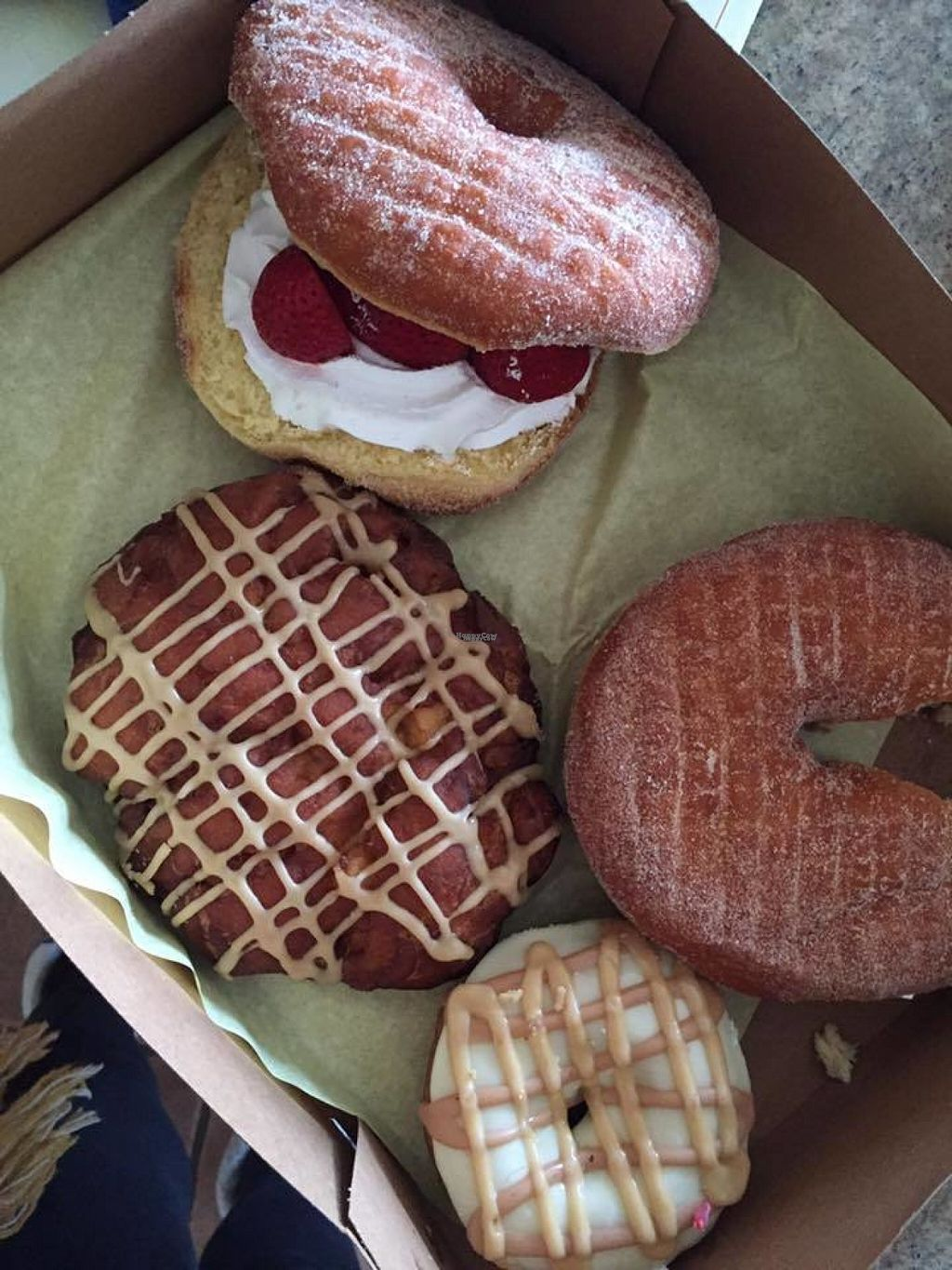"""Photo of Donut Bar  by <a href=""""/members/profile/JessicaMerced"""">JessicaMerced</a> <br/>Vegan Donuts, best I've ever had <br/> August 10, 2016  - <a href='/contact/abuse/image/57006/167558'>Report</a>"""
