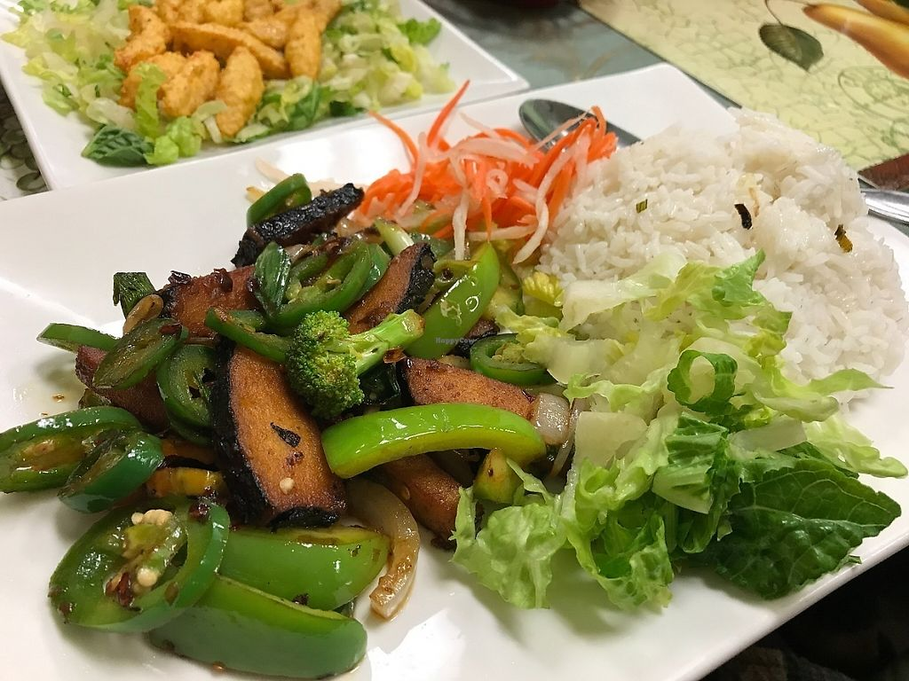 """Photo of CLOSED: Green Lotus Vegan  by <a href=""""/members/profile/Tigra220"""">Tigra220</a> <br/>Ca Muoi Xa Chien (marinated soy fish, deep fried with lemongrass) <br/> May 29, 2017  - <a href='/contact/abuse/image/57012/263998'>Report</a>"""
