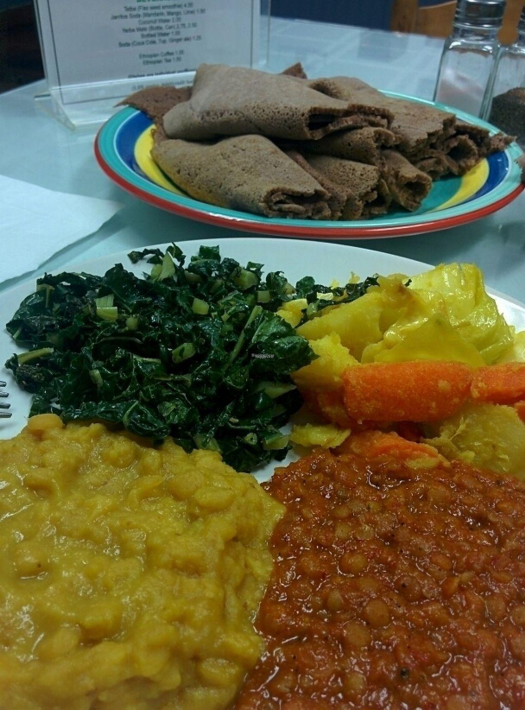 "Photo of Kaffa Ethiopian Cuisine  by <a href=""/members/profile/alexandra_vegan"">alexandra_vegan</a> <br/>medium main dish <br/> April 8, 2017  - <a href='/contact/abuse/image/57024/245625'>Report</a>"