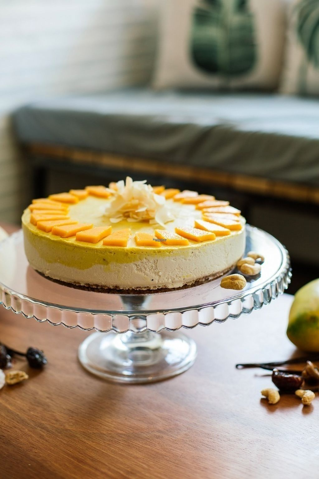 "Photo of Backyard Cafe  by <a href=""/members/profile/EmmaFountain"">EmmaFountain</a> <br/>Raw Mango & Vanilla Cheesecake <br/> February 2, 2017  - <a href='/contact/abuse/image/57031/220806'>Report</a>"