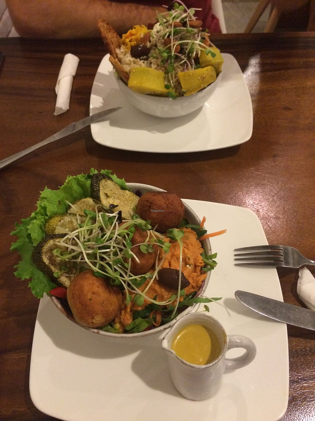 "Photo of Backyard Cafe  by <a href=""/members/profile/HungryEaters"">HungryEaters</a> <br/>Abundance bowl (top) and mediterran falafel bowl (bottom) ?? <br/> October 3, 2017  - <a href='/contact/abuse/image/57031/311353'>Report</a>"