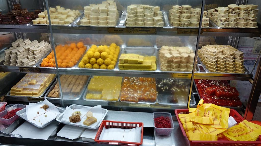 "Photo of Komala Vilas Sweets and Savouries  by <a href=""/members/profile/JimmySeah"">JimmySeah</a> <br/>variety of sweets <br/> March 31, 2015  - <a href='/contact/abuse/image/57036/97476'>Report</a>"