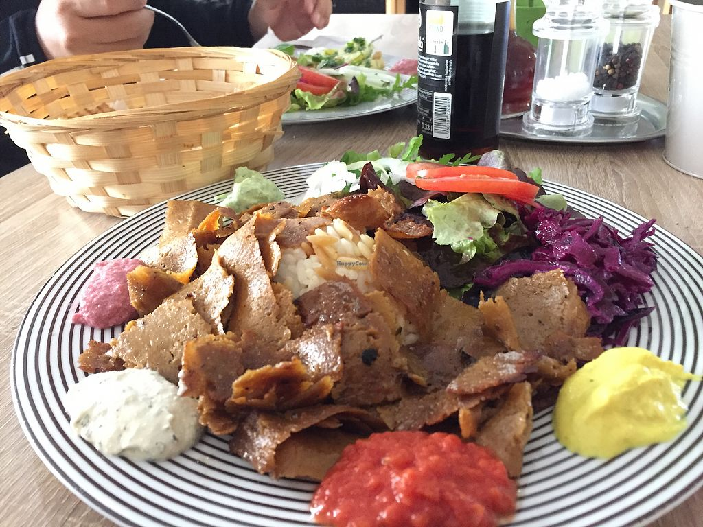 """Photo of Erbils Orient Lounge  by <a href=""""/members/profile/KdRock19"""">KdRock19</a> <br/>Seitan Doner plate - So tasty <br/> October 18, 2017  - <a href='/contact/abuse/image/57037/316445'>Report</a>"""