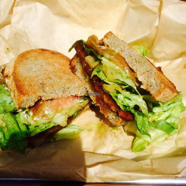 "Photo of Mendocino Farms  by <a href=""/members/profile/Vegeterin"">Vegeterin</a> <br/>TLT (tempeh bacon, lettuce & tomato) <br/> August 29, 2016  - <a href='/contact/abuse/image/57081/172076'>Report</a>"