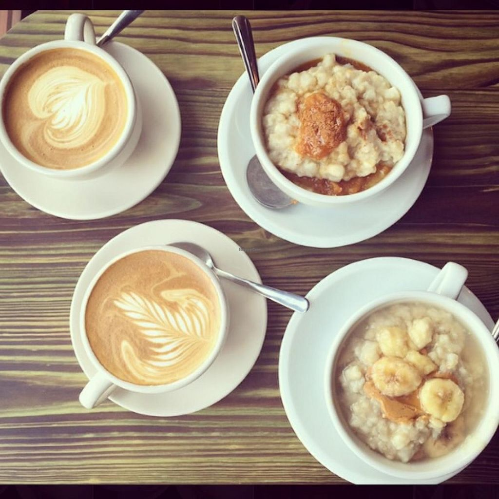 """Photo of Red Pipe Organic Cafe  by <a href=""""/members/profile/Babyshka"""">Babyshka</a> <br/>Peanut butter, banana and honey oatmeal <br/> April 3, 2015  - <a href='/contact/abuse/image/57108/97696'>Report</a>"""