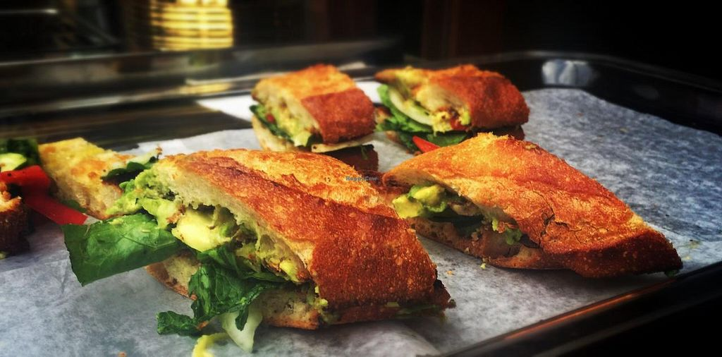 """Photo of Red Pipe Organic Cafe  by <a href=""""/members/profile/Babyshka"""">Babyshka</a> <br/>Vegetarian sandwich  <br/> April 3, 2015  - <a href='/contact/abuse/image/57108/97700'>Report</a>"""