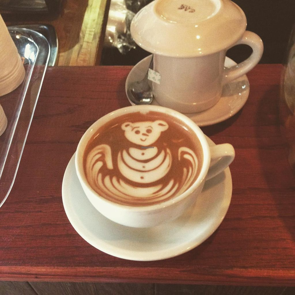 """Photo of Red Pipe Organic Cafe  by <a href=""""/members/profile/Babyshka"""">Babyshka</a> <br/>Tea and a latte to stay.  <br/> April 3, 2015  - <a href='/contact/abuse/image/57108/97705'>Report</a>"""